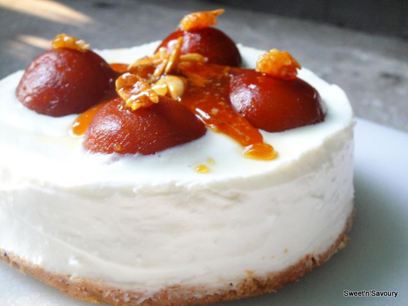 GulabJamun No Bake Cheesecake