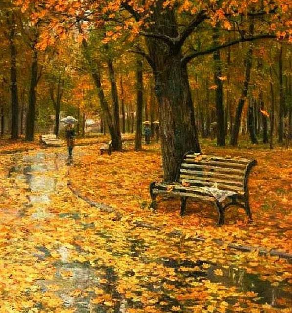 осень в живописи С. Бурсилов