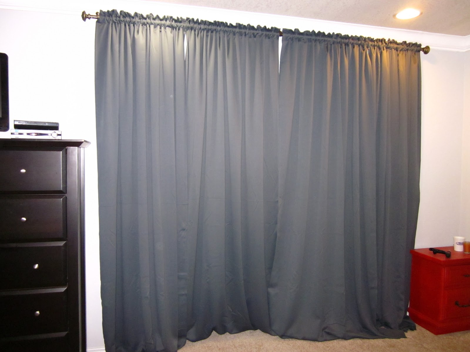 my new curtains in the master bedroom have been doing a great job of