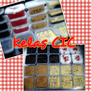 Kelas DIY CIC [ Cake in Container] RM350 perhead & RM200 group of 2