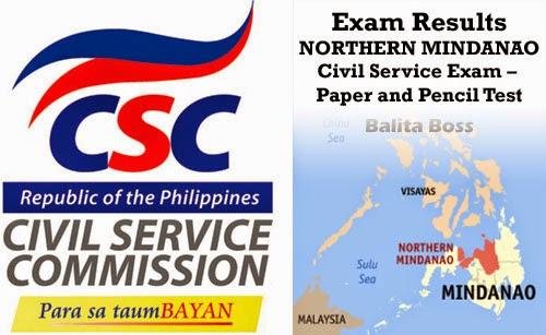 Region 10 - Civil Service Exam Results