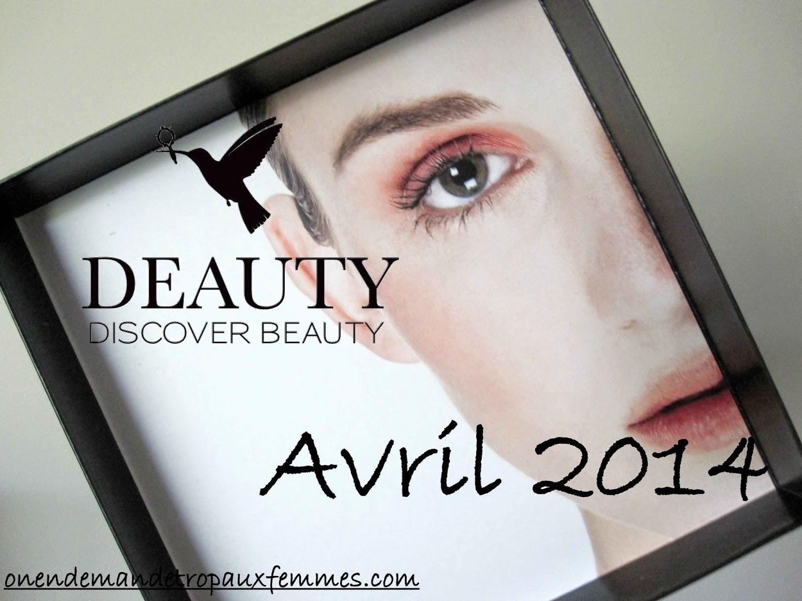 Deauty box avril 2014 box beauté belgique