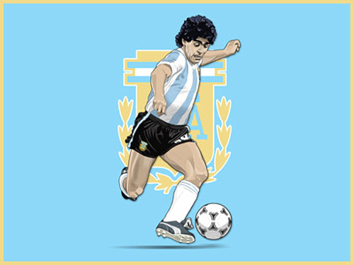 Maradona por Jamie Meyer
