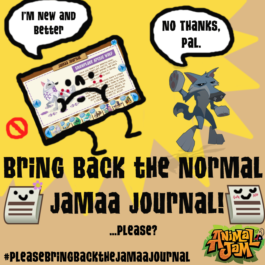 Bring back the normal Jamaa Journal!