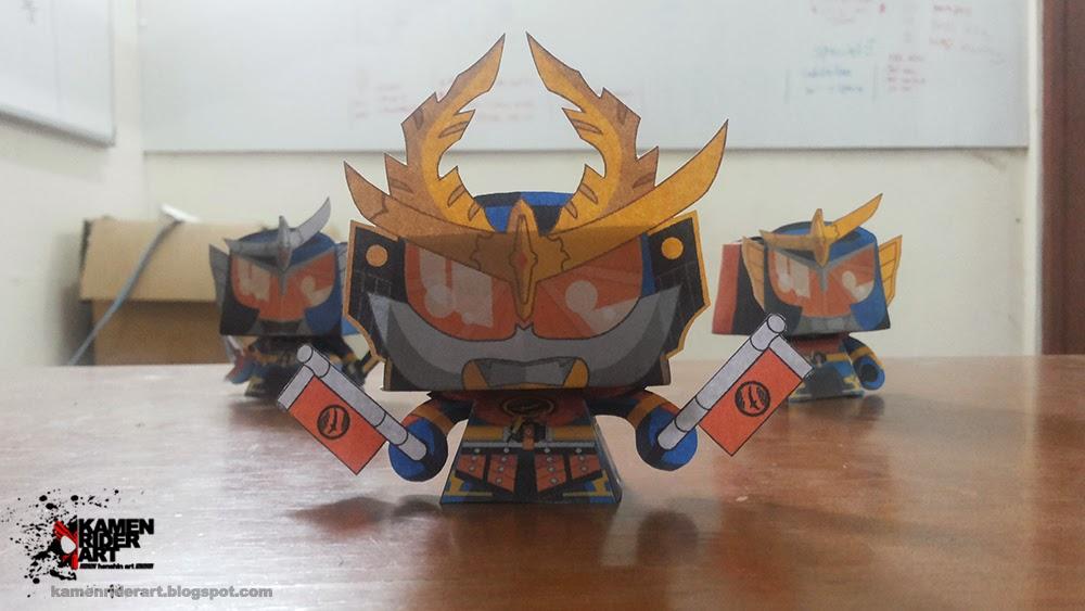 Kamen Rider Gaim Kachidoki Arms Paper Toy