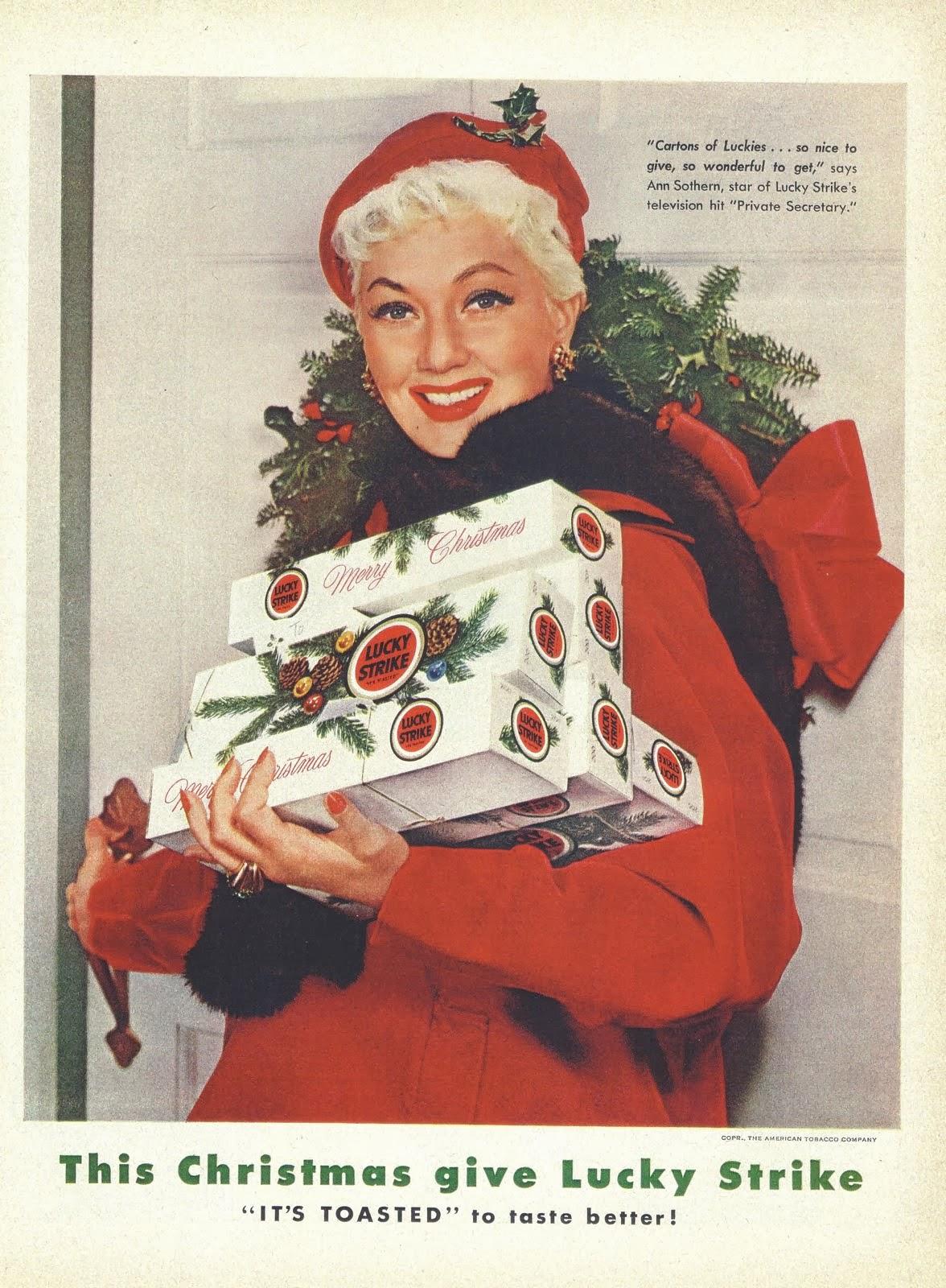24 VINTAGE CHRISTMAS CIGARETTE ADS Popthomology