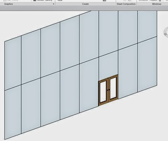 Revit Curtain Wall : Revit curtain wall door savae
