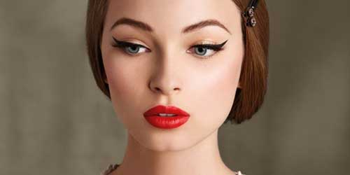 cat eyes en look pin up