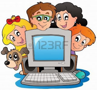 Kids surrounding a computer