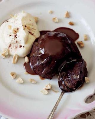 Sticky Chocolate Cakes with Chocolate Sauce