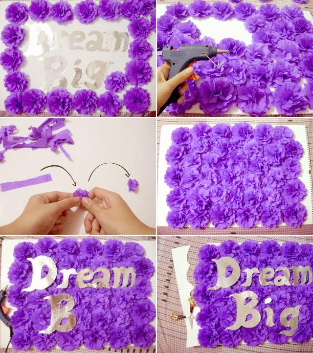 Diy how to make crepe paper flowers for room decoration how to make crepe paper flowers diy wall art tutorial mightylinksfo