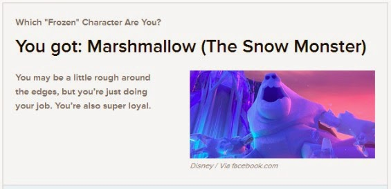 Buzzfeed Quiz Answer Marshmallow from Frozen