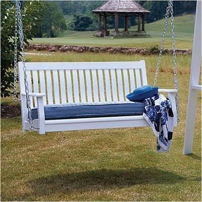 white porch swing chain with stand love swings blue pillows cushion just beautiful relaxing