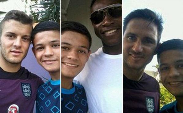 """Foto Selfie Bareng Tim Inggris Piala Dunia 2014: Keamanan Hotel Lemah, Seorang Remaja """"Palak"""" Kaos Kiper Inggris"""