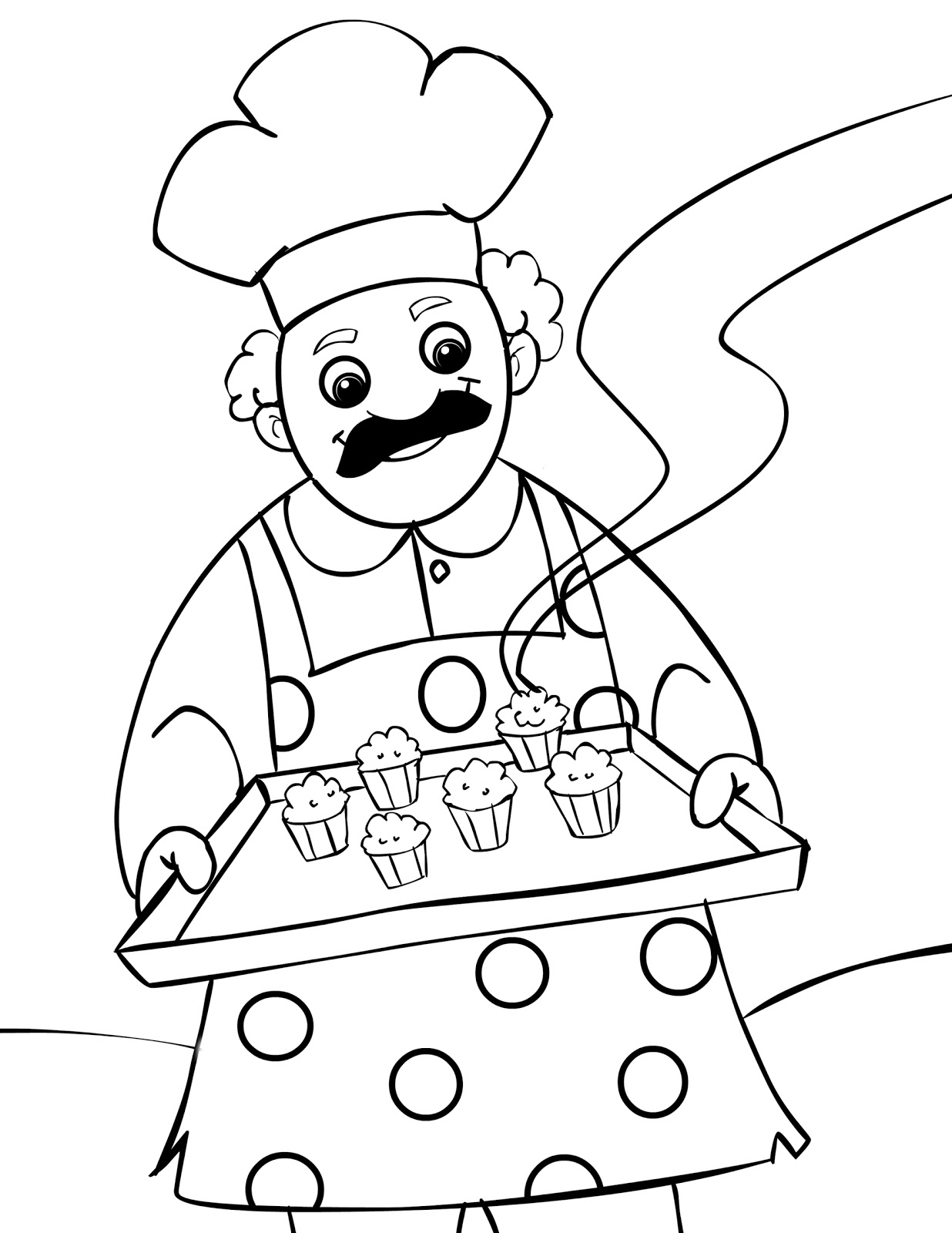 Muffin Man Nursery Rhyme Coloring Pages