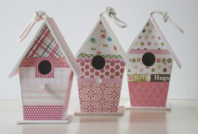 Tutorial casita de madera decorada con papel for Casitas madera decoracion