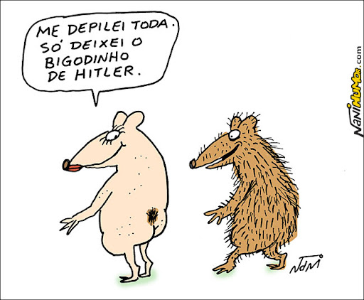 Mundo Animal. bigodinho de hitler