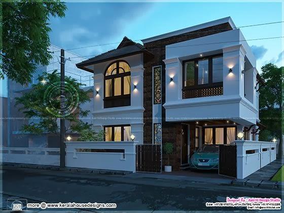Awesome villa elevation design