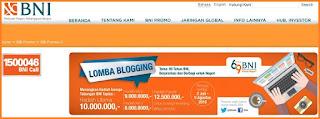Syarat & Ketentuan Lomba Blogging BNI Berhadiah Puluhan Juta