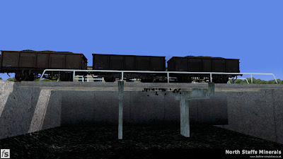 Fastline Simulation - North Staffs Minerals: 24T mineral wagons are discharged over the coal drops at Meaford Power Station in North Staffs Minerals a route for RailWorks Train Simulator 2012.