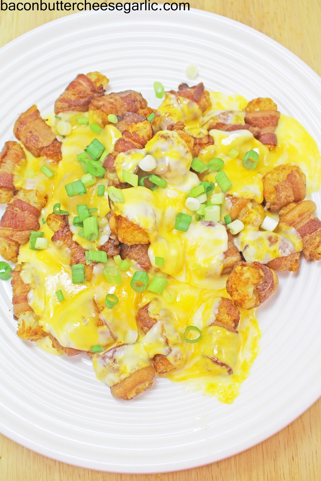 Bacon & Cheese Wrapped Tater Tots With Tabasco Recipes — Dishmaps