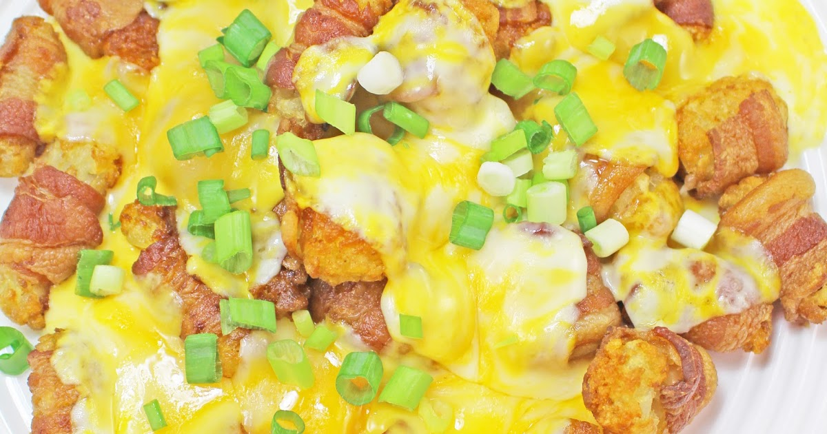 Bacon & Cheese Wrapped Tater Tots With Tabasco Recipe — Dishmaps