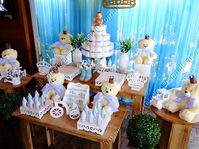 decoração chá bebê ursinhos príncipes porto alegre