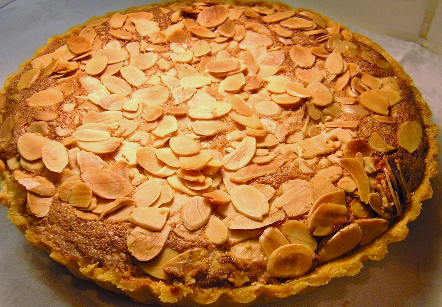 large Bakewell Tart. Makes a great dessert with custard or whipped ...