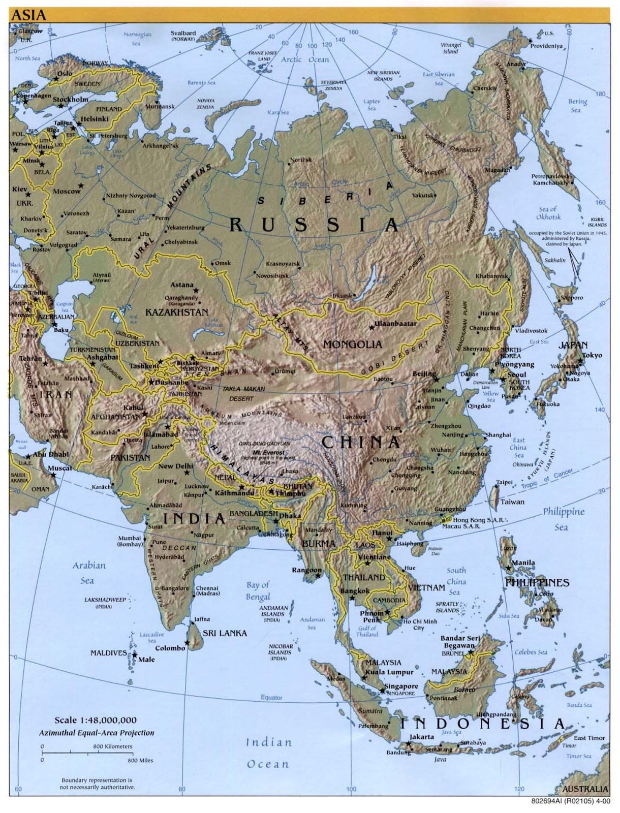 Blog de Geografa e Historia 1ESO IES La Flota MAPA DE ASIA