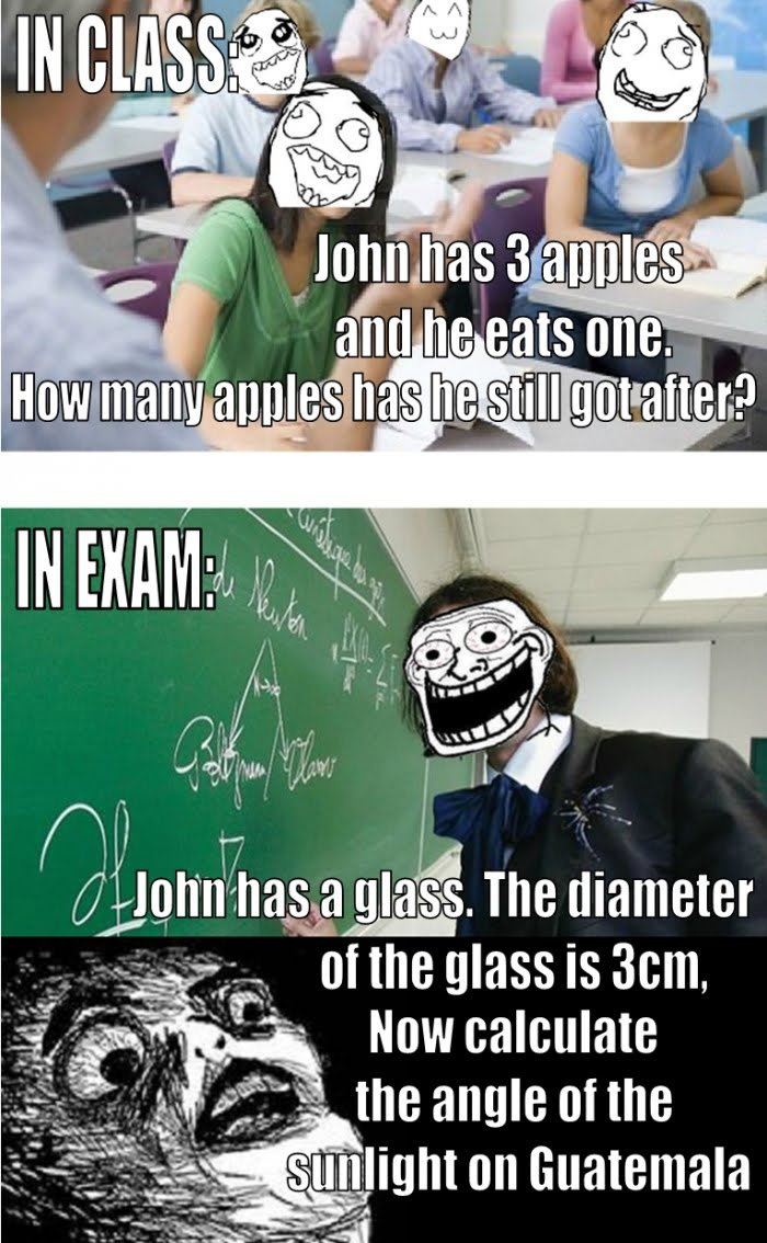 Funny Every Single Time - In Class vs In Exam