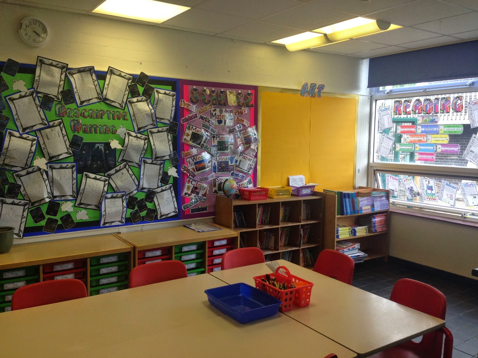 Modern Classroom Jobs ~ Creative teaching displays before and after new school