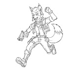 #8 Fox McCloud Coloring Page