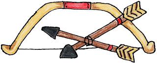 Arcos y flechas para imprimir