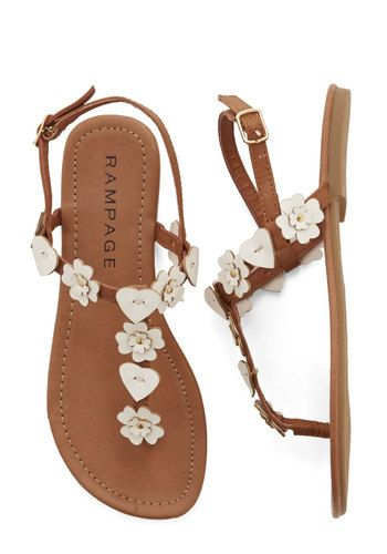 Gorgeous Leather Flat Sandals For Summer
