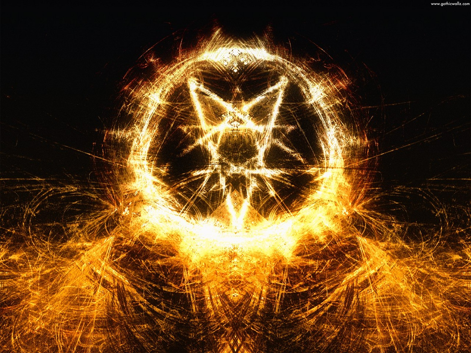 Abstract Satanic | Gothic Wallpaper Download