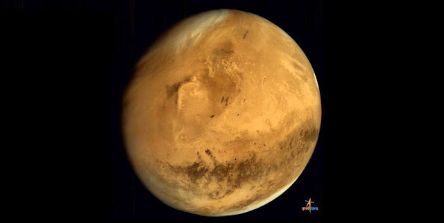 Mars seen by India's Mars Orbiter Mission. Credit: ISRO