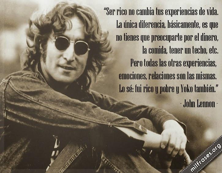 frases de John Lennon, cantante y compositor británico.