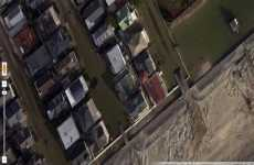 Imágenes de satélite antes y después del huracán Sandy en Google Maps