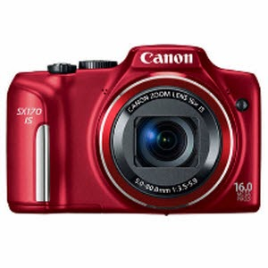 Snapdeal: Buy Canon Powershot SX170IS 16MP Digital Camera with 4gb card and case Rs.8158