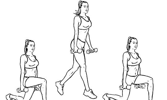 cara mengecilkan Betis Split Squat Jump
