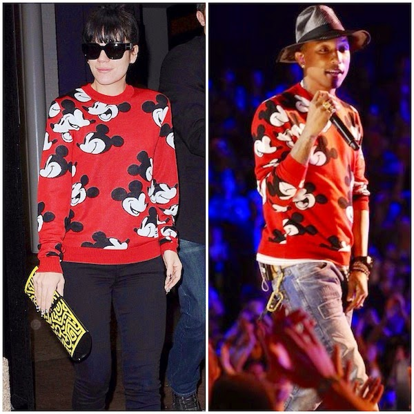 Lily Allen Pharrell Williams Mickey Mouse / Opening Ceremony red sweater