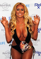 Aubrey O'Day shows off her amazing curves at red carpet in Las Vegas