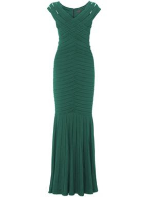 Phase Eight green fishtail dress from House of Fraser