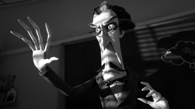 The Vincent Price-like teacher of Frankenweenie