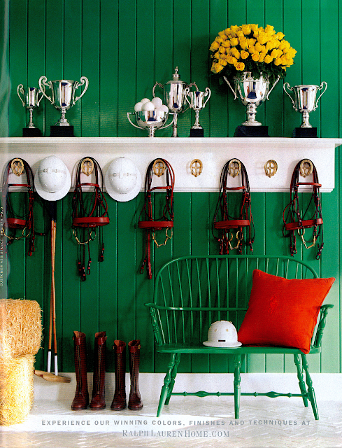 Ralph Lauren Equestrian Room Decor