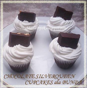 Chocolate Silverqueen Cupcakes ala Bunda