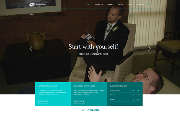 Soul Clinic – Responsive Medical Psychiatrist Template