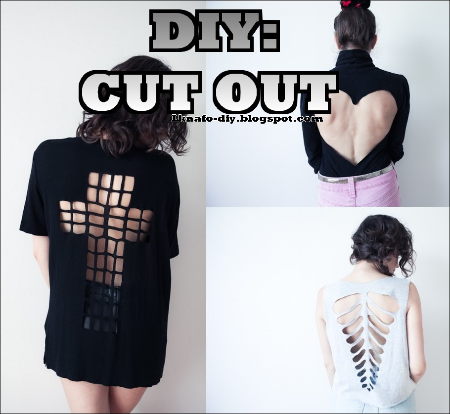 L. KNAFO: Do It Yourself: DIY: Cut-out t-shirt: Cross / Ribcage ...