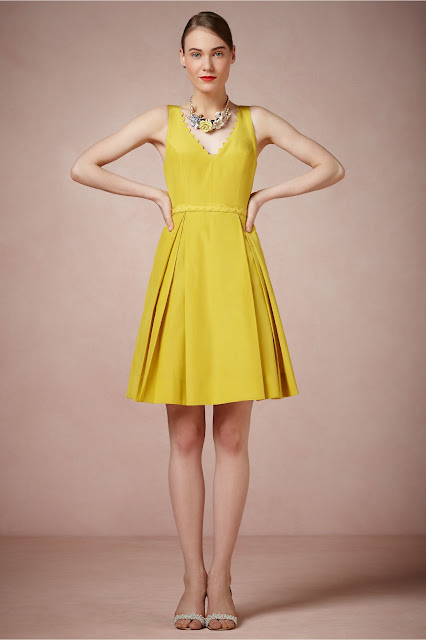 bright yellow Bridesmaid Dresses by BHLDN