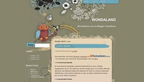 Wondaland - Free Blogger Template